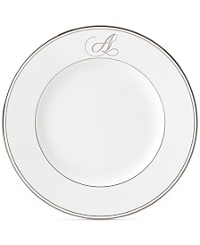 Lenox Federal Platinum Monogram Dinner Plate, Script Letters