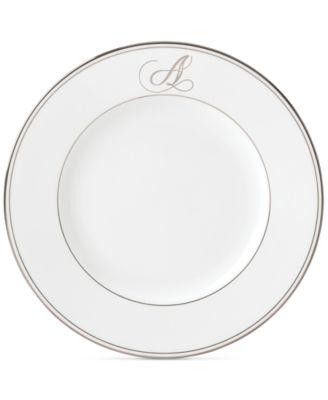 Lenox Federal Platinum Monogram Dinner Plate Script Letters  sc 1 st  Macy\u0027s & Lenox Federal Platinum Monogram Dinner Plate Script Letters - Fine ...