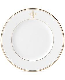 Lenox Federal Gold Monogram Dinner Plate, Block Letters