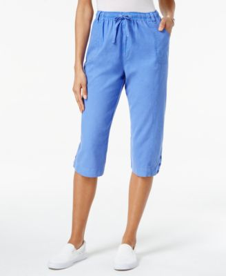 Image of Karen Scott Drawstring Capri Pants, Only at Macy's