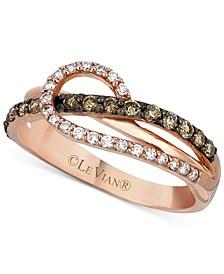 Chocolatier® Diamond Loop Ring (1/2 ct. t.w.) in 14k Rose Gold