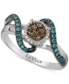 Le Vian Exotics® Diamond Ring (1/2 ct. t.w.) in 14k White Gold