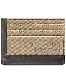 Calvin Klein Men's Canvas Cardcase