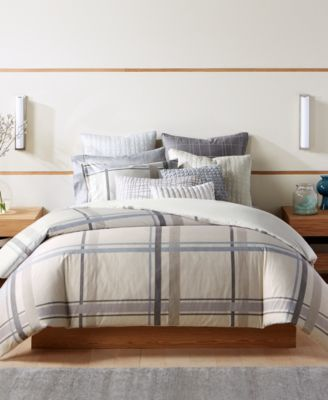 Modern Plaid Full/Queen Duvet Cover, Created for Macy's
