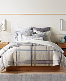 Hotel Collection Modern Plaid Twin Duvet Cover, Created for Macy's