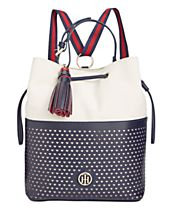 Tommy Hilfiger Small Laura Mixed Media Sling Backpack