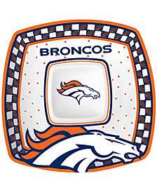 Memory Company Denver Broncos Gameday Ceramic Chip & Dip Plate