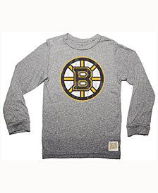 Retro Brand Men's Boston Bruins Primary Mock Twist Long Sleeve T-Shirt