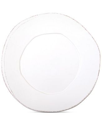 VIETRI Lastra White Collection European Dinner Plate
