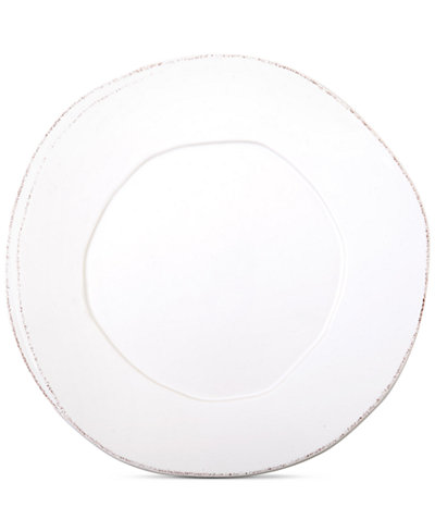 VIETRI Lastra White Collection European Dinner Plate