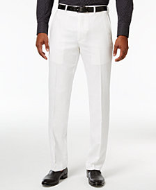Sean John Men's Classic-Fit White Linen Dress Pants