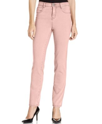 Image of Style & Co Petite Slim-Leg Tummy-Control Jeans, Only at Macy's