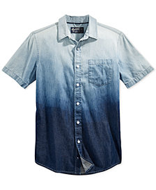 American Rag Men's Ombré Cotton Shirt, Created for Macy's