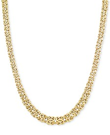 Graduated Byzantine Necklace in 14k Gold