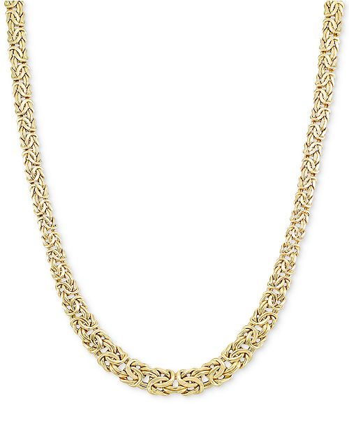 Macy's Graduated Byzantine Necklace in 14k Gold