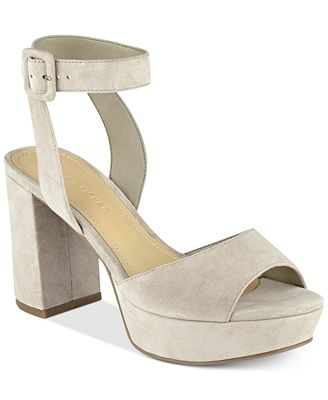 Marc Fisher Meliza Platform Block-Heel Sandals - Sandals - Shoes ...