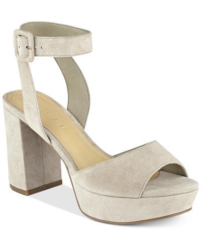 Marc Fisher Meliza Platform Block-Heel Sandals - Sandals - Shoes ...
