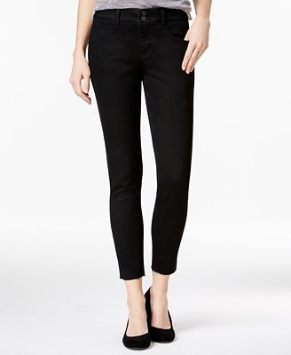 Rewind Juniors' Techno Tuck Cropped Skinny Jeans - Juniors Jeans ...