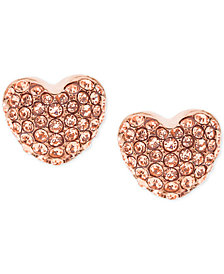 Michael Kors Pavé Heart Stud Earrings