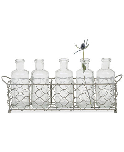 Wire Holder With 5 Glass Vases Bowls Vases Macys Bridal And