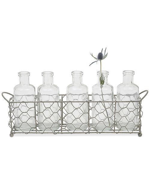 3r Studio Wire Holder With 5 Glass Vases Bowls Vases Macys