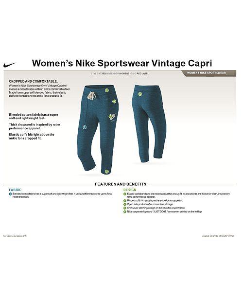 85c35a2fe2678 Nike Plus Size Gym Vintage Capri Pants & Reviews - Pants & Capris ...