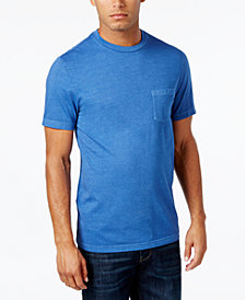 Club Room Men's Garment Dyed Pocket T-Shirt, Created for Macy's