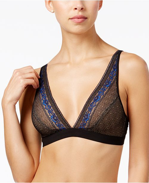 b.tempt'd b.inspired V-Neck Lace Bralette 910251