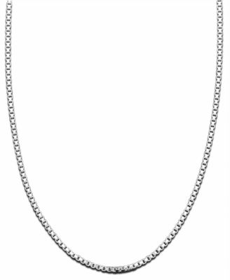 Image of Giani Bernini Sterling Silver Necklace, Box Chain