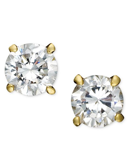 e8023a15642edc ... Giani Bernini 18k Gold over Sterling Silver Earrings, Cubic Zirconia  Round Stud Earrings (4 ...