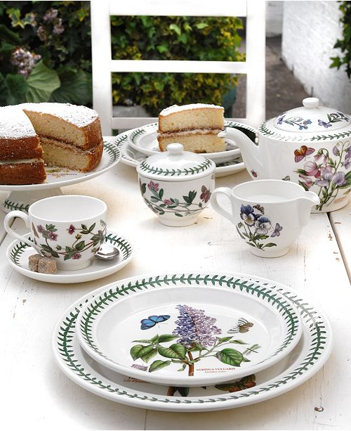 For The Discerning China Collector Or Naturalist On Your Gift List Botanic Garden Dinnerware And Dishes Collection By Portmeirion Presents Six