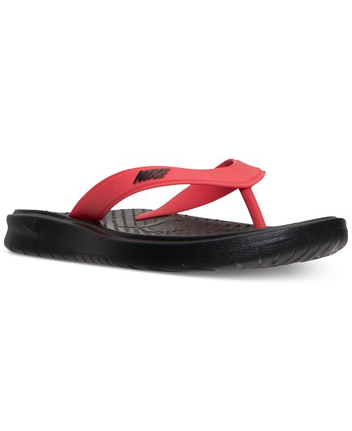 ab1393952e4cb0 Nike Men s Solay Thong Sandals from Finish Line   Reviews - Finish ...
