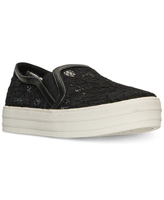 Skechers Women's Double Up - Flora Slip-On Casual Sneakers from Finish Line