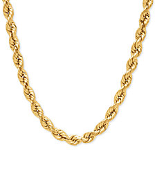 Rope Chain Necklace in 14k Gold