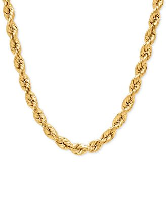 rope chain necklace in 14k gold necklaces jewelry