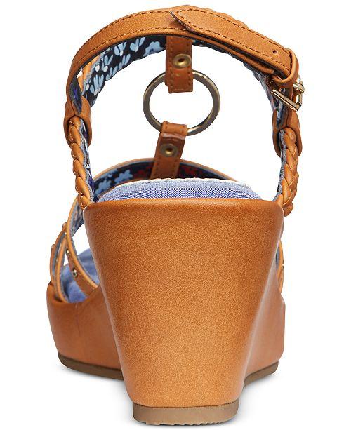 7ee32274a44140 Tommy Hilfiger Desiree Rope Wedge Sandals