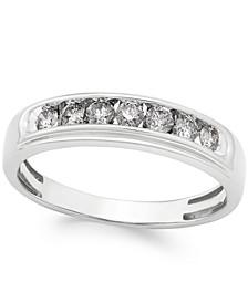 Men's Diamond Band (1/2 ct. t.w.) in 10k White Gold