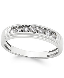 Men's Diamond Band (1/2 ct. t.w.) in 10k White Gold