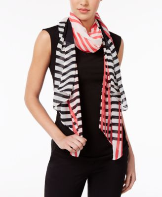 Image of Calvin Klein Striped Scarf