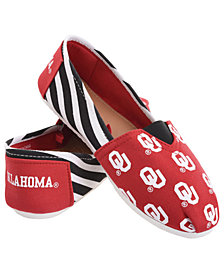 Forever Collectibles Oklahoma Sooners Canvas Stripe Shoe
