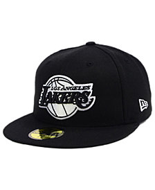 New Era Los Angeles Lakers Black White 59FIFTY Cap