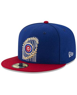 584f66d1000 New Era Chicago Cubs World Series Trophy 59FIFTY Cap - Sports Fan Shop By  Lids - Men - Macy s