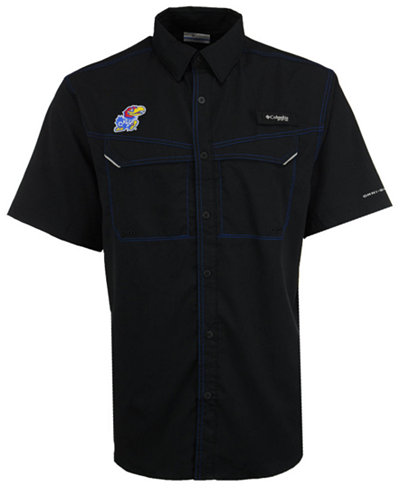 Columbia Men's Kansas Jayhawks Low Drag Off Shore Button Up Shirt