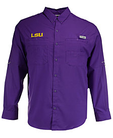 Columbia Men's LSU Tigers Tamiami Long Sleeve Button Down Shirt