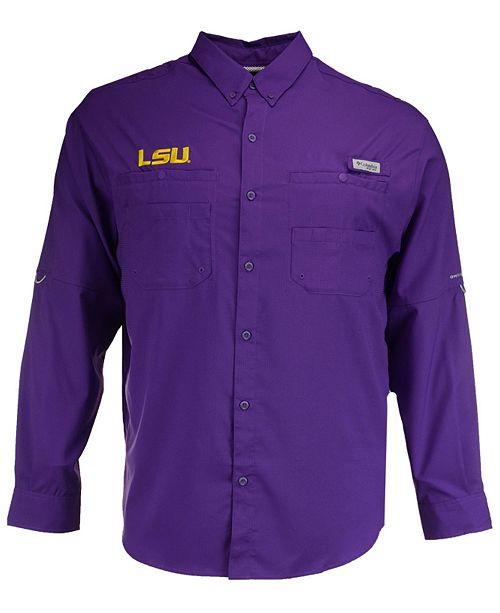 Columbia Men's LSU Tigers Tamiami Long Sleeve Button Down Shirt