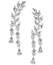 INC International Concepts Silver-Tone Crystal Ear Climber Earrings, Created for Macy's