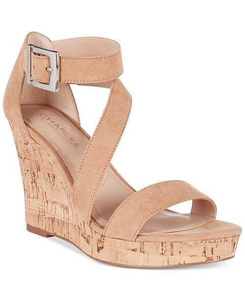 CHARLES by Charles David Leanna Platform Wedge Sandals