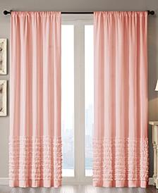 """Bessie Cotton 50"""" x 63"""" Horizontal Ruffle Window Panel"""
