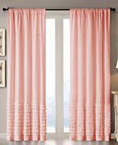 "Madison Park Bessie Cotton 50"" x 84"" Horizontal Ruffle Window Panel"