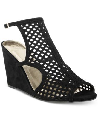 Image of Material Girl Kinzley Peep-Toe Wedge Sandals, Only at Macy's